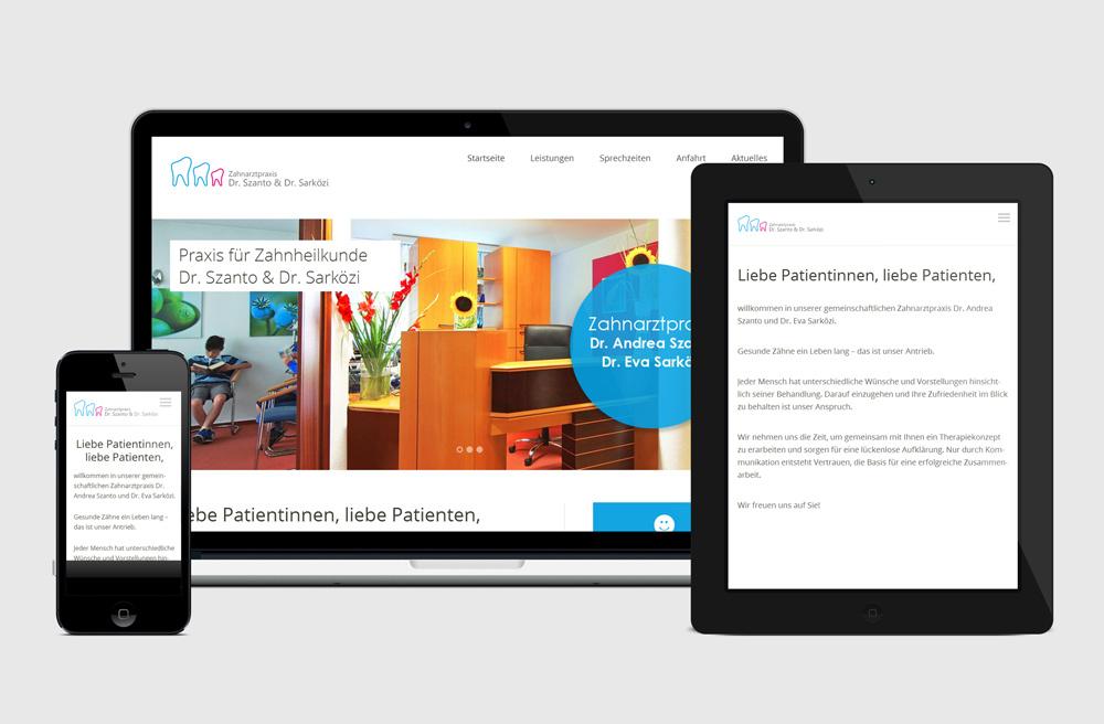 Praxis-Webseite für verschiedene Endgeräten
