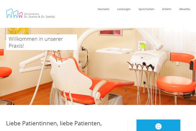 Website Zahnarztpraxis Dr. Szanto & Dr. Sarközi