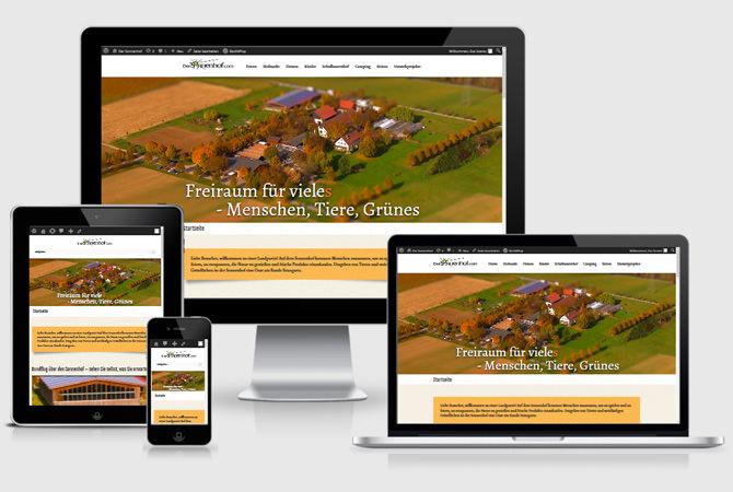 Der Sonnenhof - Responsive Webdesign