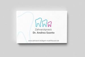 Visitenkarte für Zahnarzt Dr. Andrea Szanto