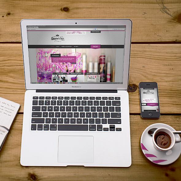 Responsive Website für Friseursalon