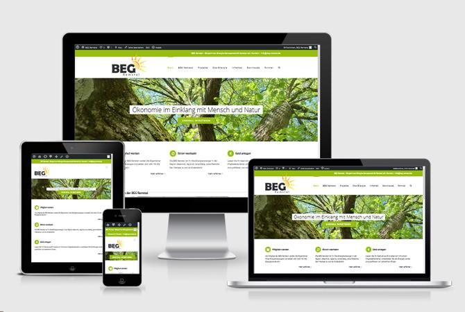 Responsive Webentwicklung BEG Remstal. Von SZANTO MEDIEN
