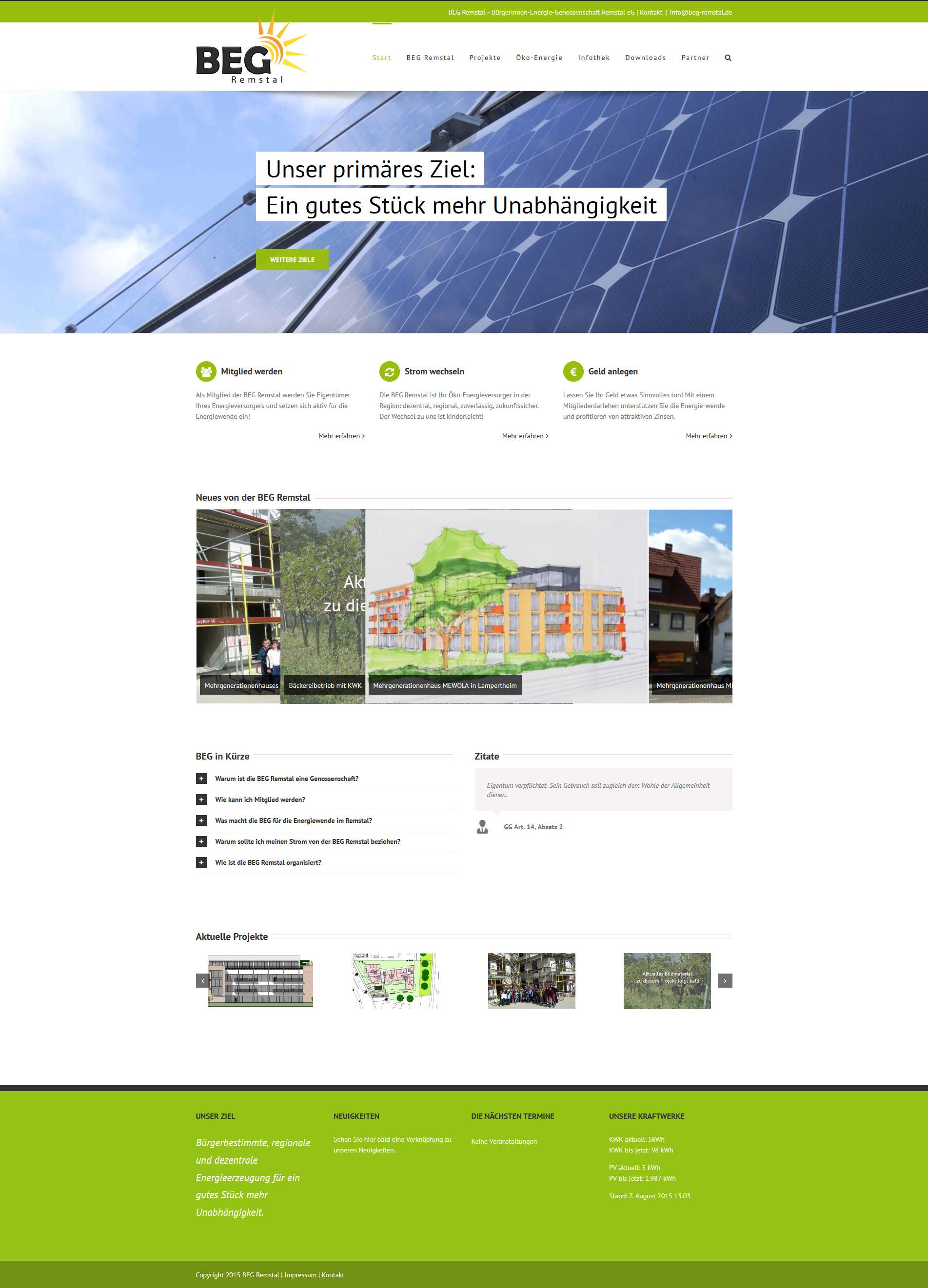 Responsive Website: BEG Remstal. Von Szanto Medien aus Stuttgart
