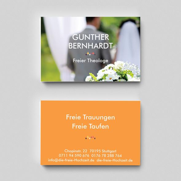 Visitenkarte Hochzeitsredner Freier Theologe