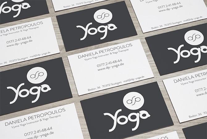 Visitenkarten Yoga Studio Stuttgart