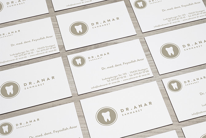 Zahnarztpraxis Visitenkarten