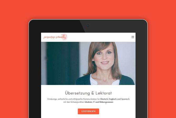 Webdesign für Übersetzerin aus Heilbronn