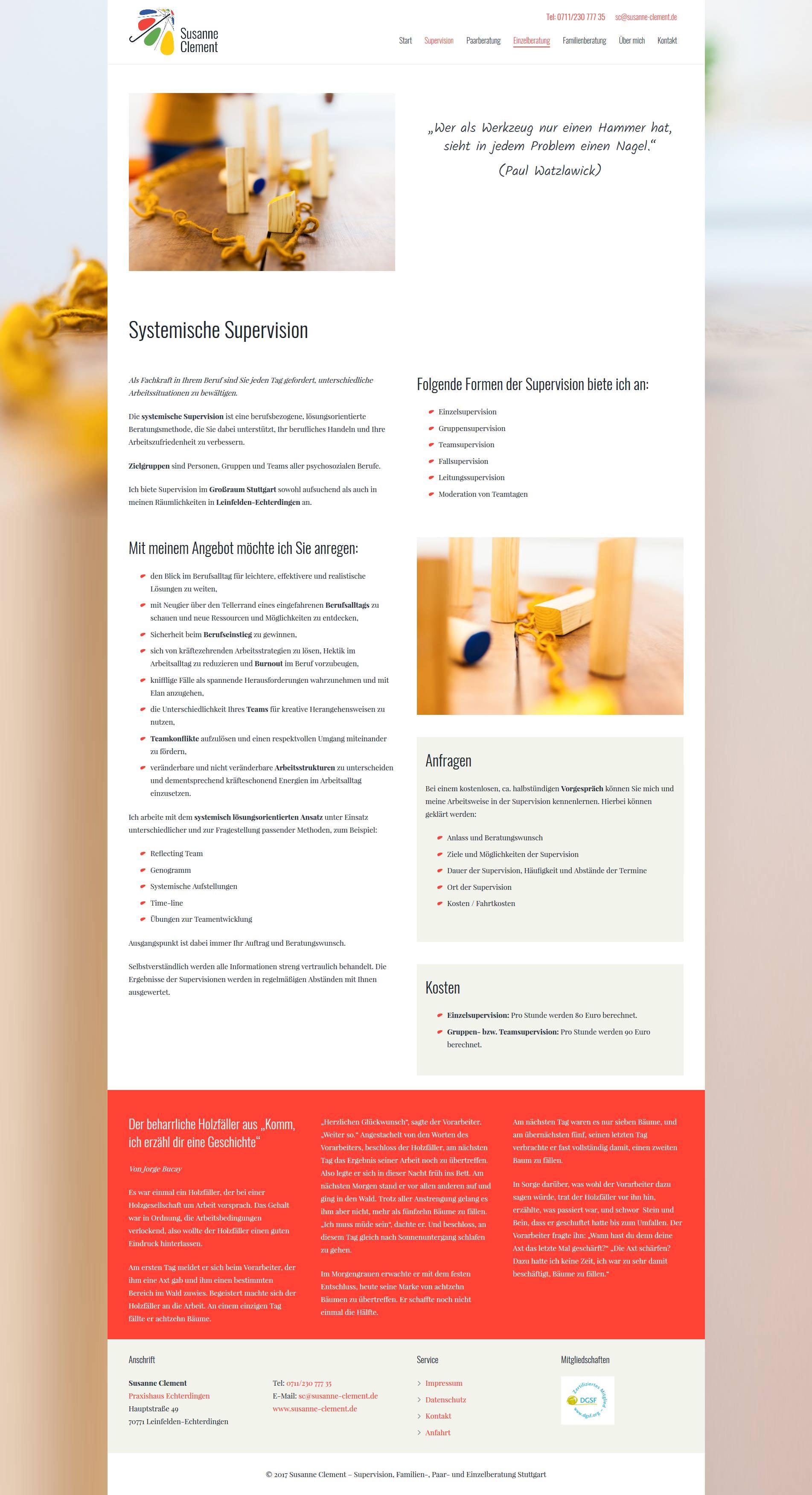 Folgesteite Webdesign Stuttgart Supervision
