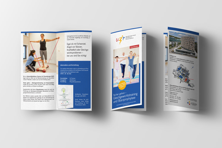 Flyer Gestaltung Physiotherapie Praxis