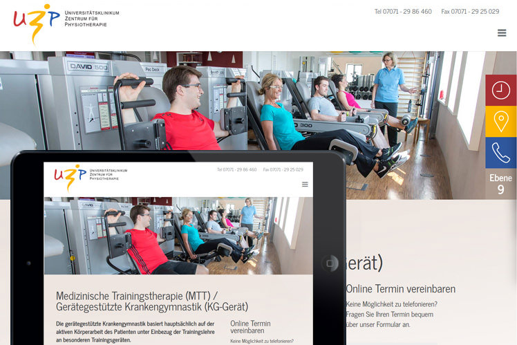 Physiotherapiepraxis Webdesign Stuttgart