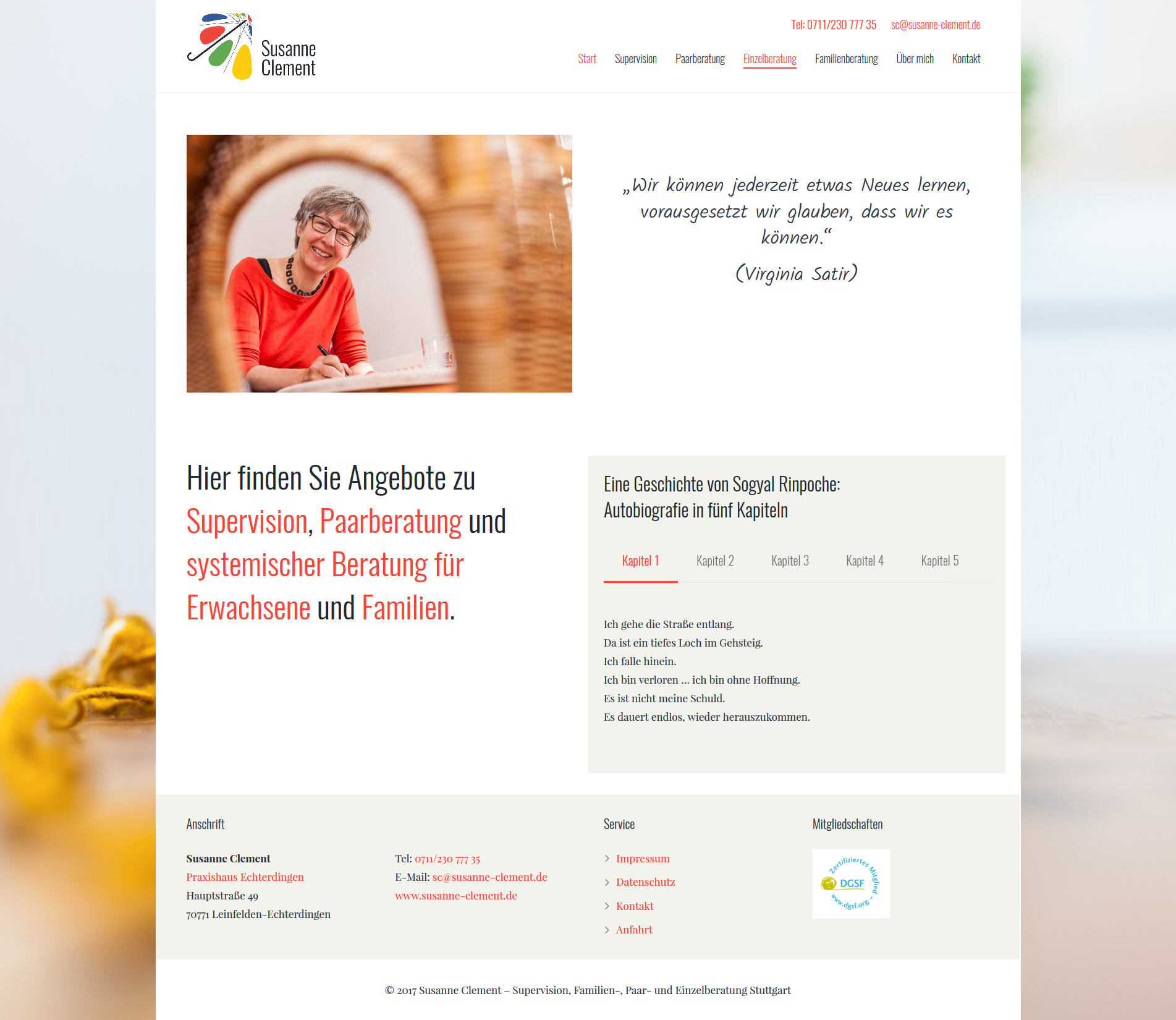 Startseite Webdesign Stuttgart Supervision Paartherapie Familientherapie