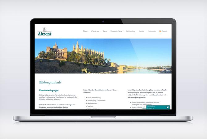 Webdesign Sprachschule – Spanisch lernen auf Mallorca