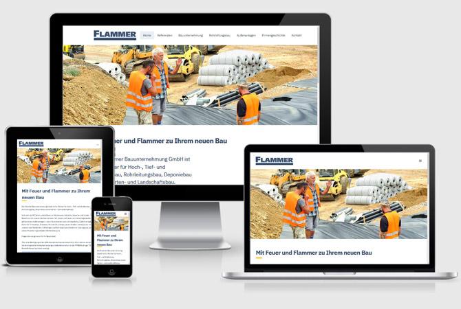Gestaltung und Entwicklung einer suchmaschinenoptimierten, responsiven Firmenwebsite für ein mittelständisches Bauunternehmen aus Mössingen