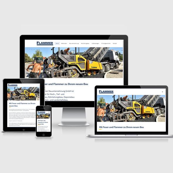 Website Internetauftritt Bauunternehmen