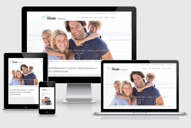 Zahnarztpraxis Stuttgart Webseite Internetauftritt