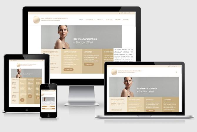 Internetseite erstellen lassen Hautarztpraxis Stuttgart Webdesign