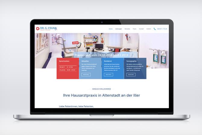 Hausarzt Praxis Hausarztpraxis Webauftritt Webseite erstellen lassen