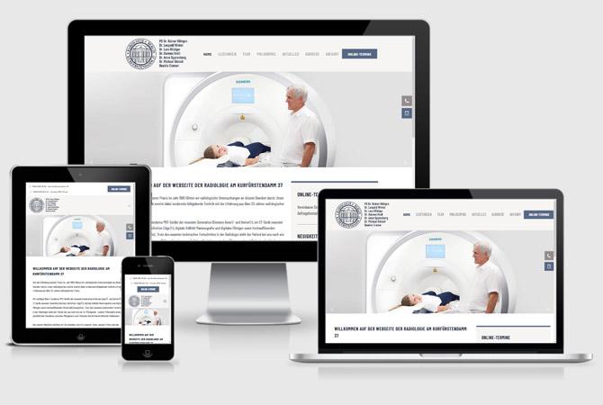 Radiologie Praxis Website Webdesign Internetauftritt erstellen lassen