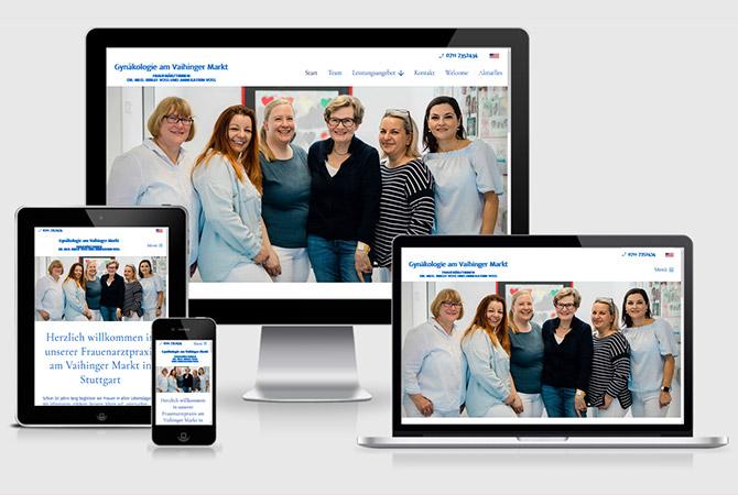 Webdesign Gynäkologe Frauenarzt Frauenarztpraxis Stuttgart