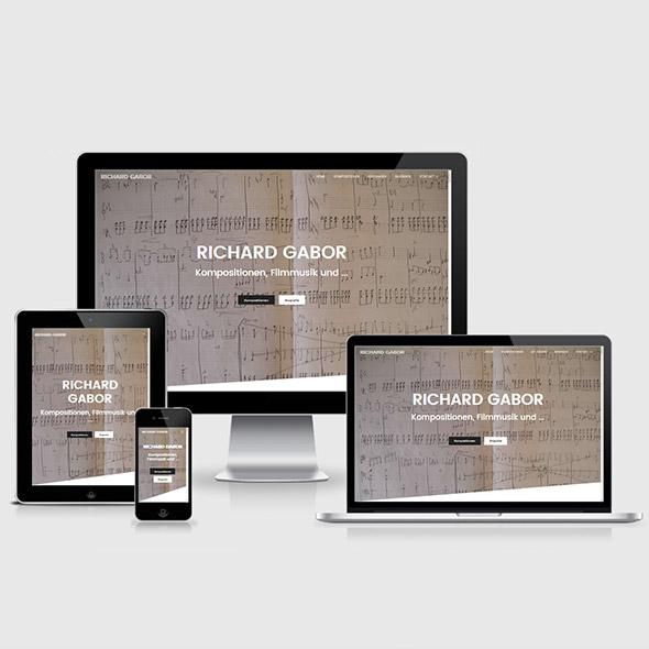 Komponist aus Berlin Webdesign