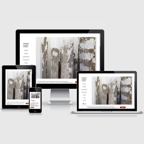 Website Webdesign Homepage für Künstler