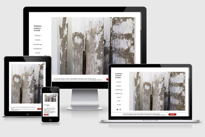 Künstler Website / Webdesign für Stuttgarter Künstlerin